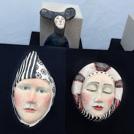 Jola Nawrocka's painted ceramic pieces modeled after Medieval art.