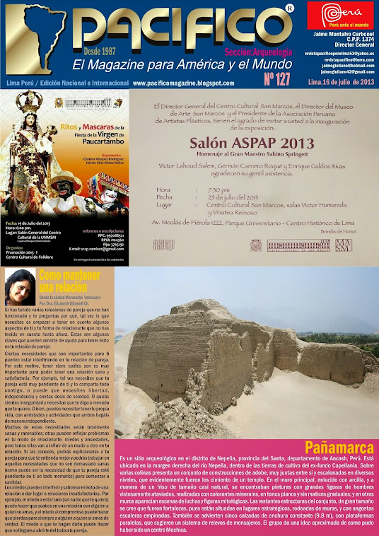 Revista Pacífico Nº 127 Arqueología