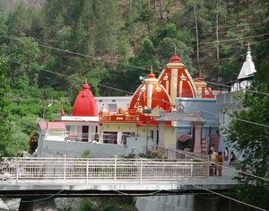 The temple which Mark Zucekenberg visited after a suggestion from Steve jobs could probably have been Hanuman Mandir and Ashram, at Kainchi, Nainital.  Set up by Neem Karoli Baba, whom Steve Jobs had accepted as his guru, Kainchi's Hanuman Mandir and Ashram continue to be popular with Indian and Western devotees.