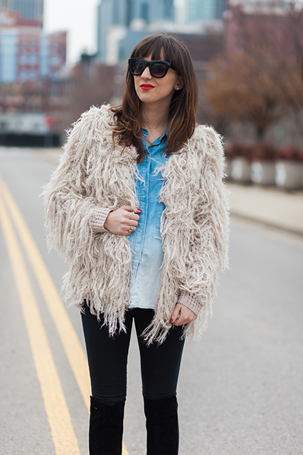 shaggy jacket, shaggy coat, 70s retro coat, free people shaggy coat, faithful shaggy jacket, fluffy free people coat, maternity style, maternity outfit, maternity shirt, bump style, nashville blogger, nashville street style, fashion blog, maternity style blog