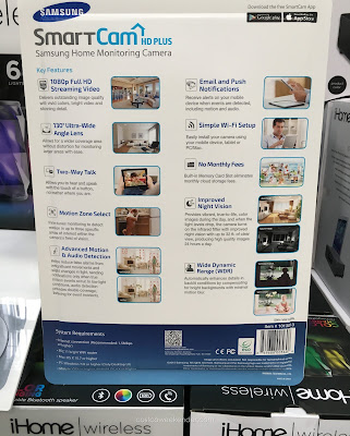 Keep an eye out with the Samsung Smartcam HD Plus Home Monitoring Camera SNH-V6414BNHD