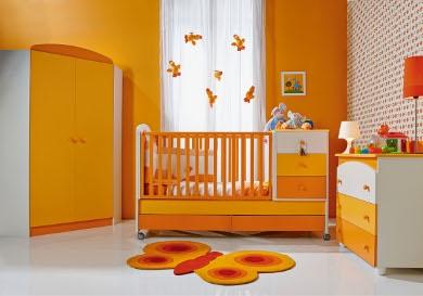 Habitaci n para beb color naranja ideas para decorar - Colores para habitacion de bebe ...