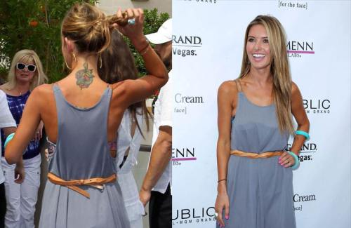 Audrina Patridge Tattoo On Her Sexy Back | Tattoo Designs