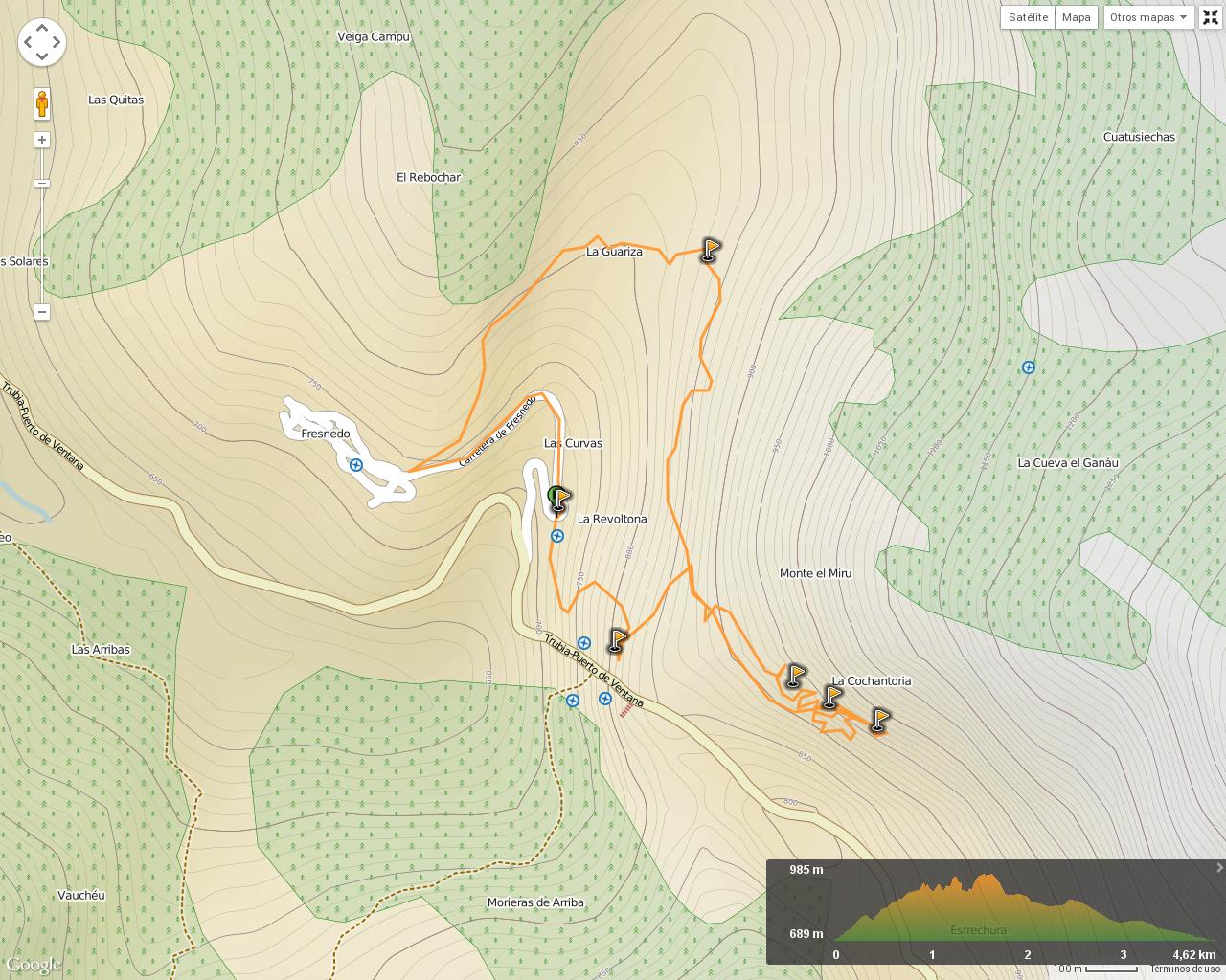 Ruta Pinturas Rupestres Fresnedo: Mapa de la ruta