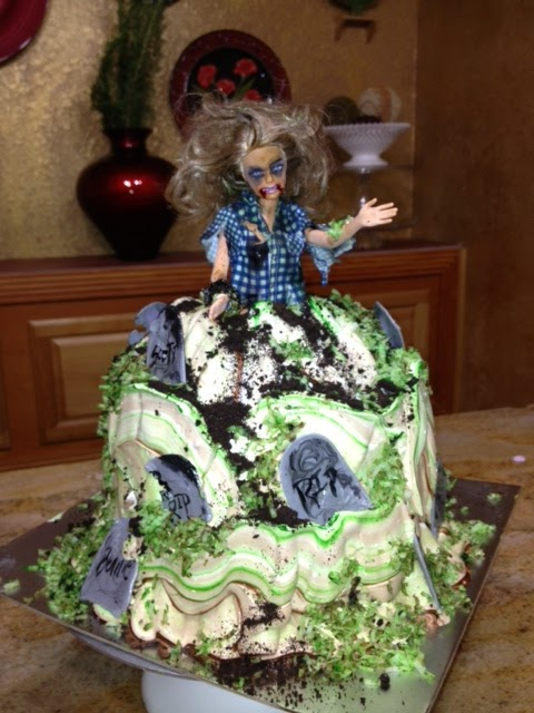 Frosted Art Zombie Barbie Doll Cake Cake Decorating Tutorial