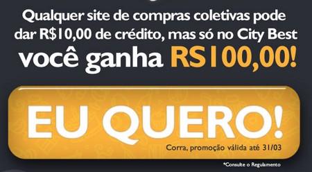 Brinde Gratis Ganhe R$ 100,00 em Vale-Compras
