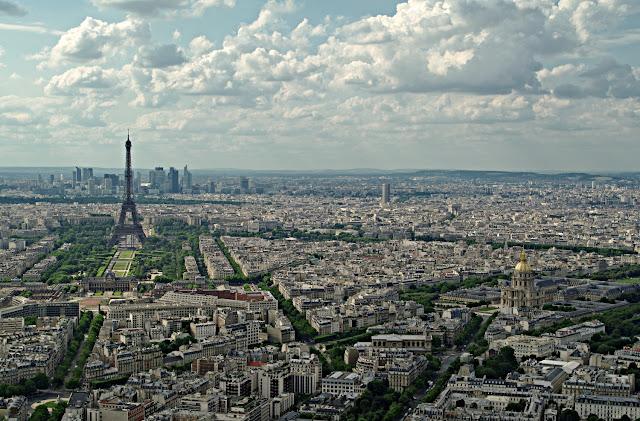 Panorama turnul Eiffel Domul Invalizilor Paris  poze frumoase