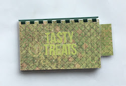 Handmade Lime Green 'TASTY TREATS' Blank Recipe Book for your Personal Recipes $8.99 + shipping
