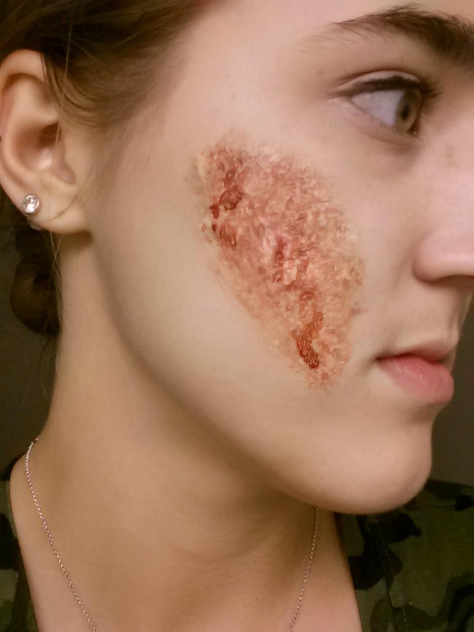 liquid latex scar - quick and easy halloween idea | cydney's makeup