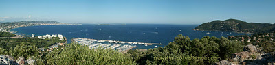 panorama cannes from hill