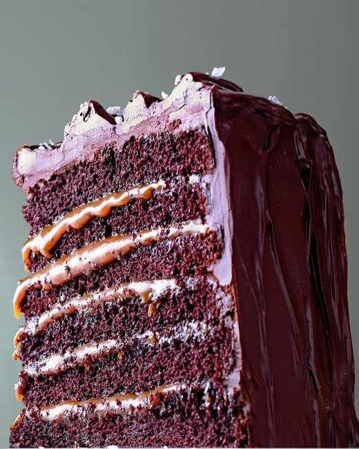 Salted-Caramel Six-Layer Chocolate Cake | Cook'n is Fun - Food Recipes ...