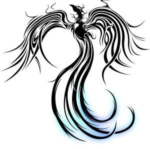 Desenhos de Tattoos de Fênix (tribal)