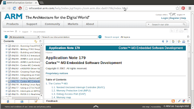 Application Note of Cortex-M3 Embedded Software Development