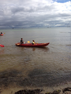 Kayaking at Studland Dorset