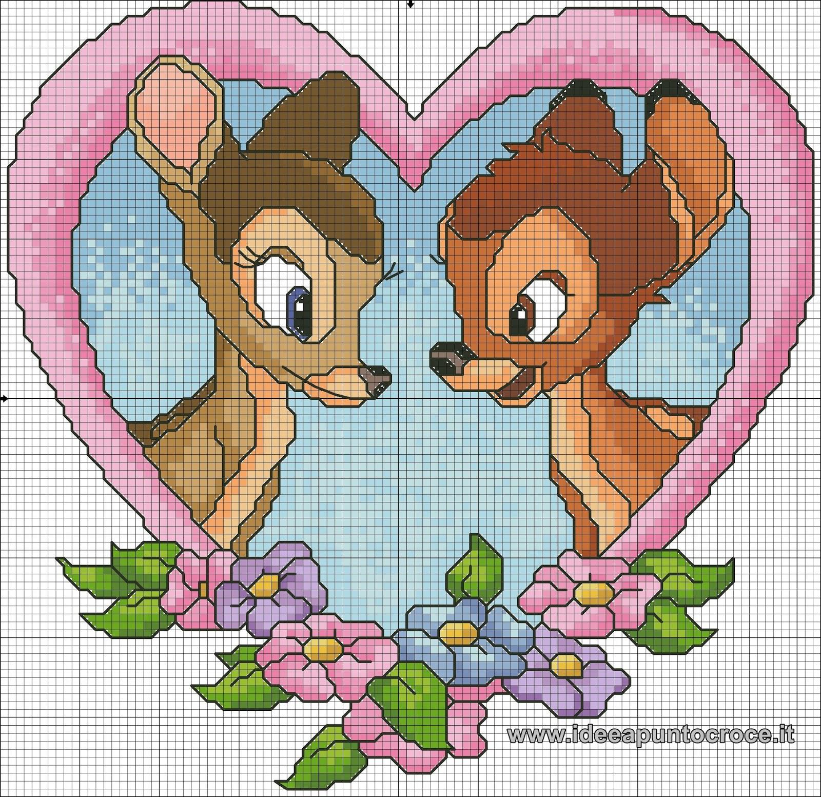 Disegni punto croce ar05 regardsdefemmes for Disney punto croce schemi gratis