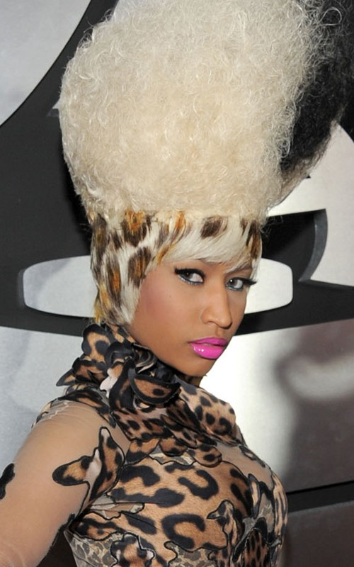 Nicki Minaj was spotted at the 53rd Annual Grammy Awards wearing an