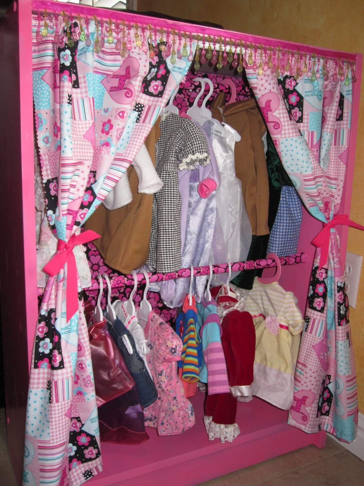 Quick DIY Newborn Closet, Or In Our Case, Doll Closet.