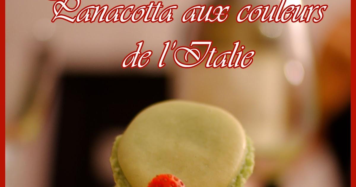 Croquez, craquez: Panacotta aux couleurs de l'Italie: http://croquez-craquez.blogspot.com/2011/05/panacotta-aux-couleurs-de-litalie.html