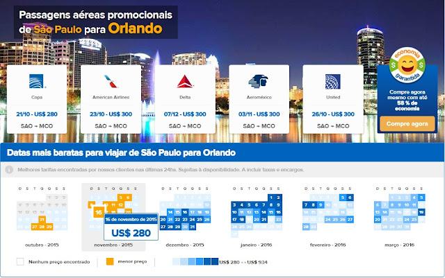 Passagens em promoção para Orlando