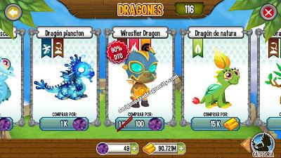 imagen de la oferta especial del dragon luchador a solo 100 gemas