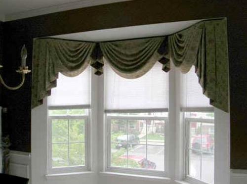 Home window design 2011 home kitchen bay window treatment for Ideas for bay window treatments