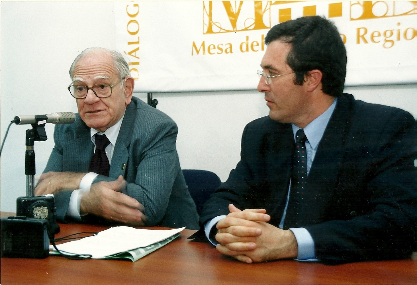 Helio Jaguaribe con el  Lic.Marcelo Gullo.