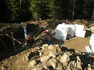 Timber frame constructiong, footings, ely mn, http://huismanconcepts.com/