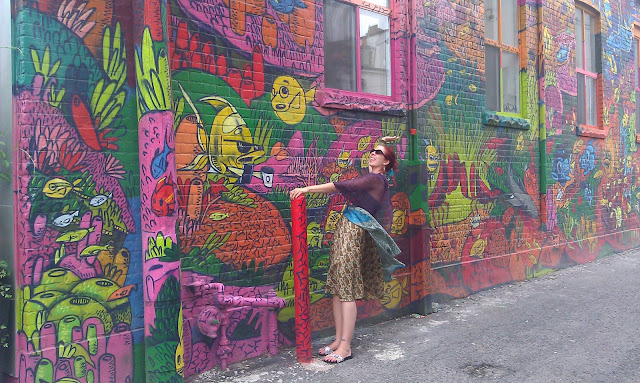 Melanie.Ps in Graffiti Alley In Toronto The Purple Scarf