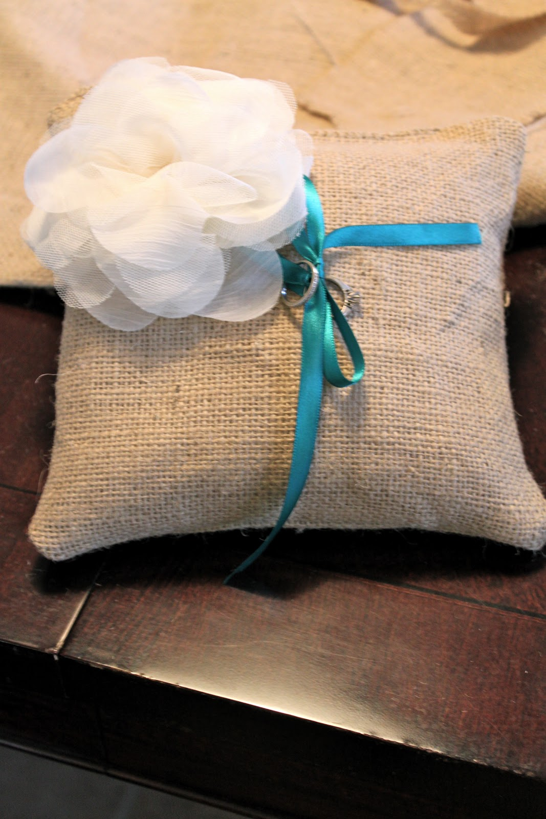 domestic charm diy ring bearer pillow