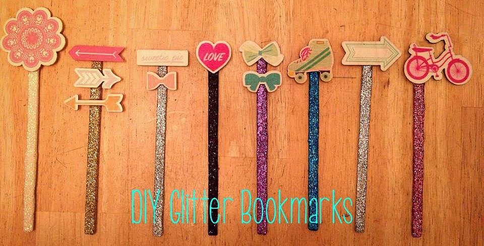 Diy Glitter Book Cover : Liz s book bucket list diy glitter bookmarks