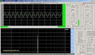 analizzatore di spettro Visual Analyser
