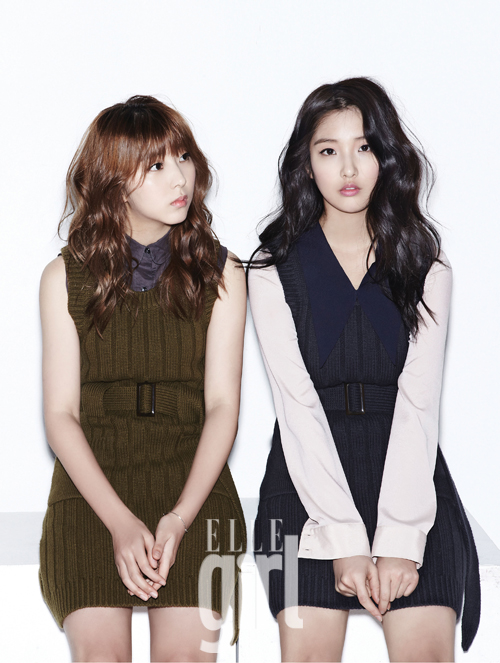 1 4minutes Nam Ji Hyun and Kwon So Hyun in Elle Girl Korea February 2013