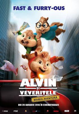 Alvin şi veveriţele Marea aventură 2016 online subtitrat in romana