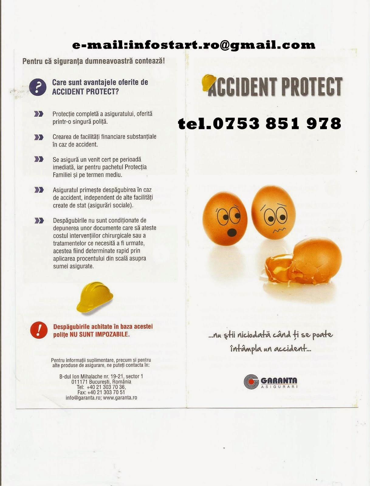 """ALege siguranta! Asigurarea """"Accident Protect"""" de la Garanta"""