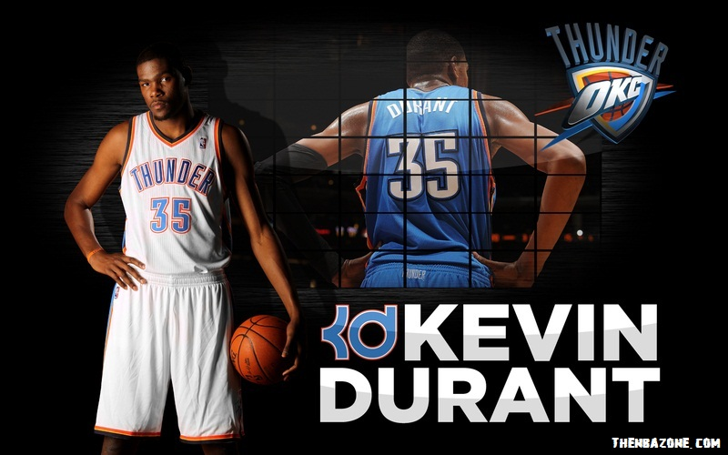 Kevin Durant - KD OKC NBA Playoffs 2012 HD Wallpaper