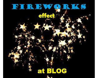 cara membuat efek animasi kembang api di blog