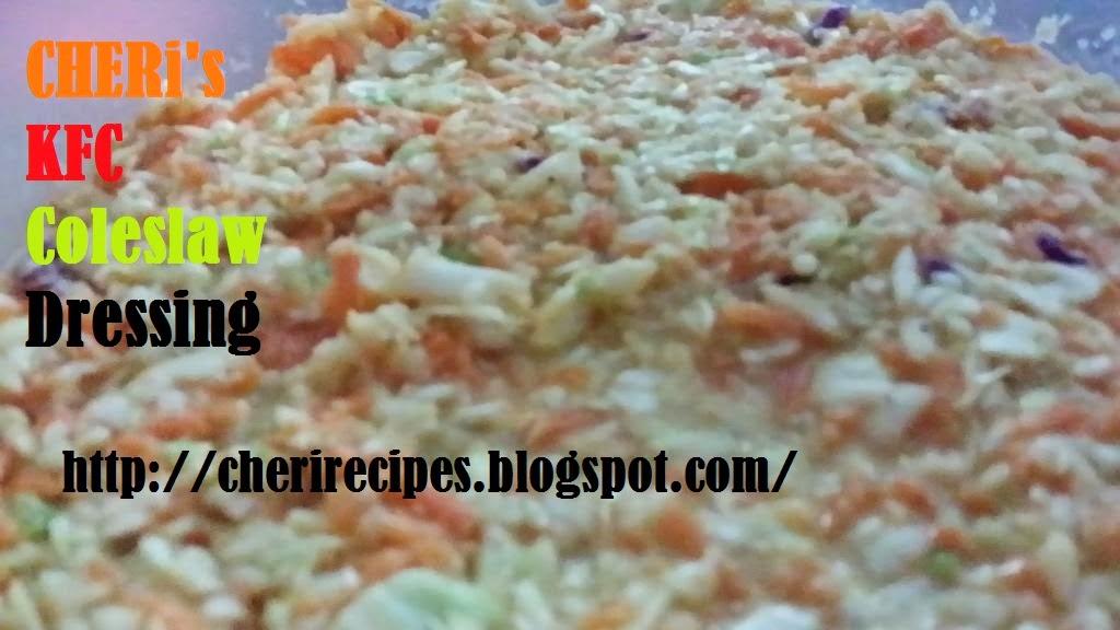 kfc coleslaw dressing