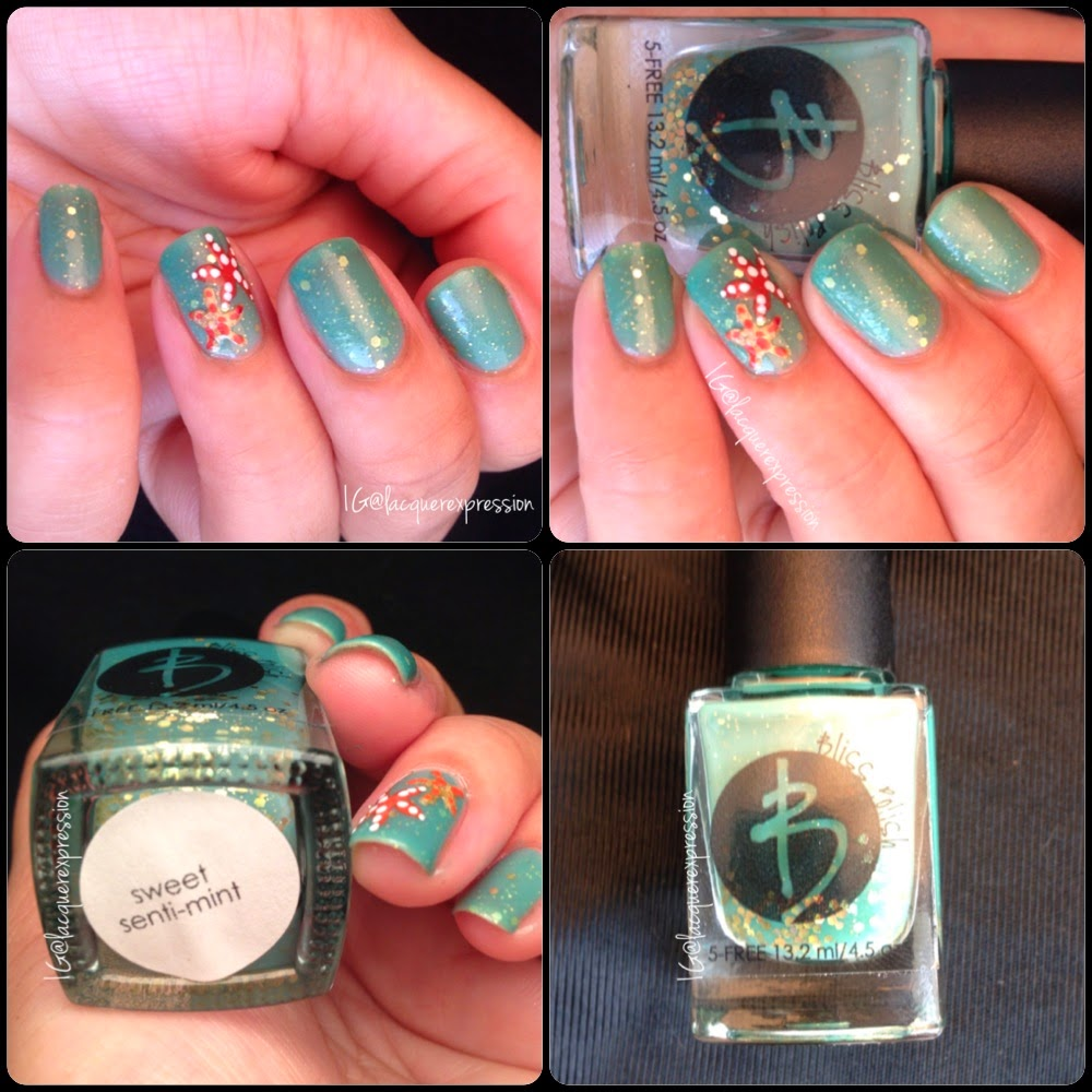 swatch and review of bliss sweet senti-mint nail polish