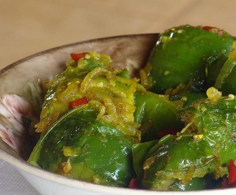 Refogado de Jiló ao Curry (vegana)