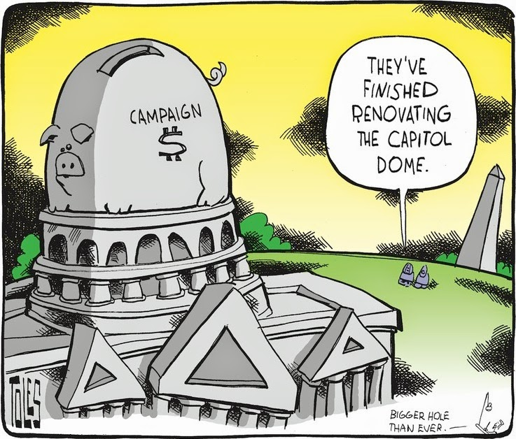 Tom Toles: Capitol Dome Piggy Bank.