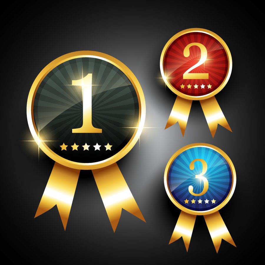 輝く入賞メダル Fine medals awards イラスト素材