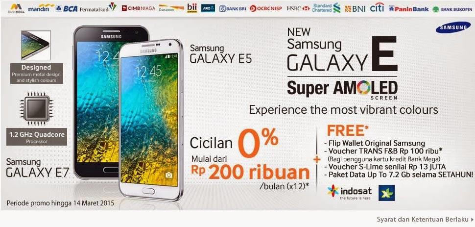 Promo Samsung Galaxy E Series Bonus Original Flip Cover