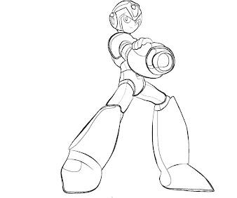 #3 Mega Man Coloring Page