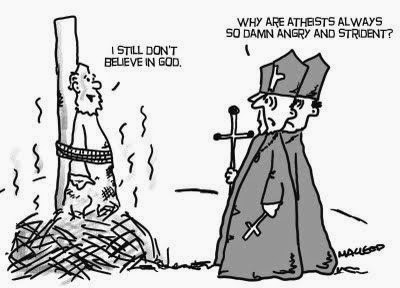 Funny Angry Strident Atheists Cartoon Joke Picture