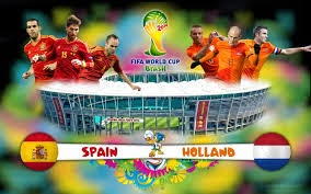 القنوات الناقلة لمباراة اسبانيا وهولندا بث مباشر 13/6/2014 كاس العالم 2014