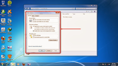 How to show hidden folder and files in windows 7 step8