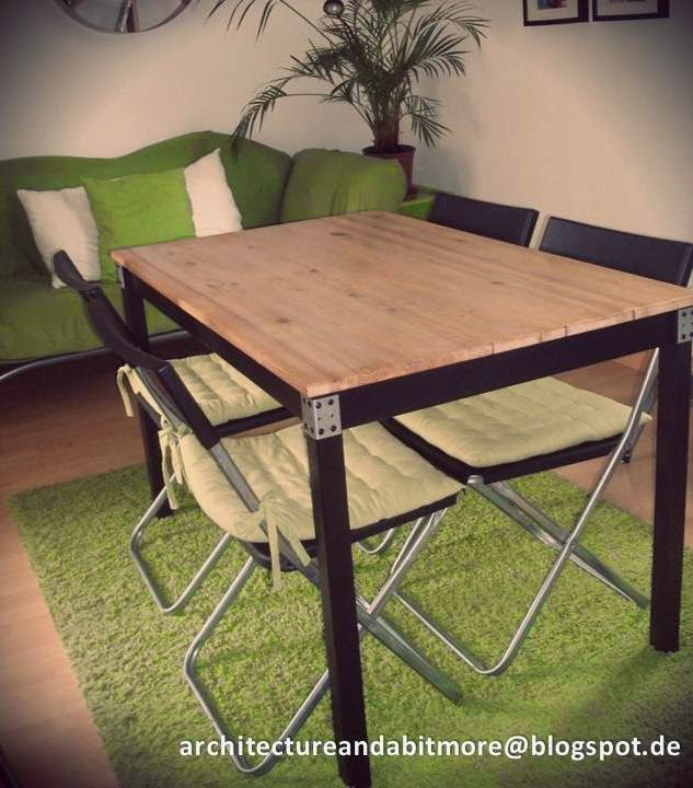 industrial dining table from a simple ikea table ikea