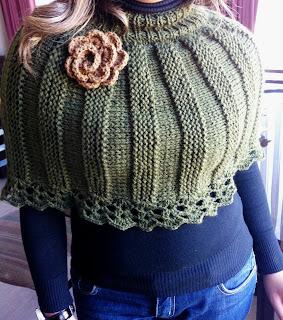 Mini Poncho Tejido Dos Agujas - Bufanda Zig Zag a crochet