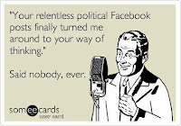 The outcome of facebook political debates...