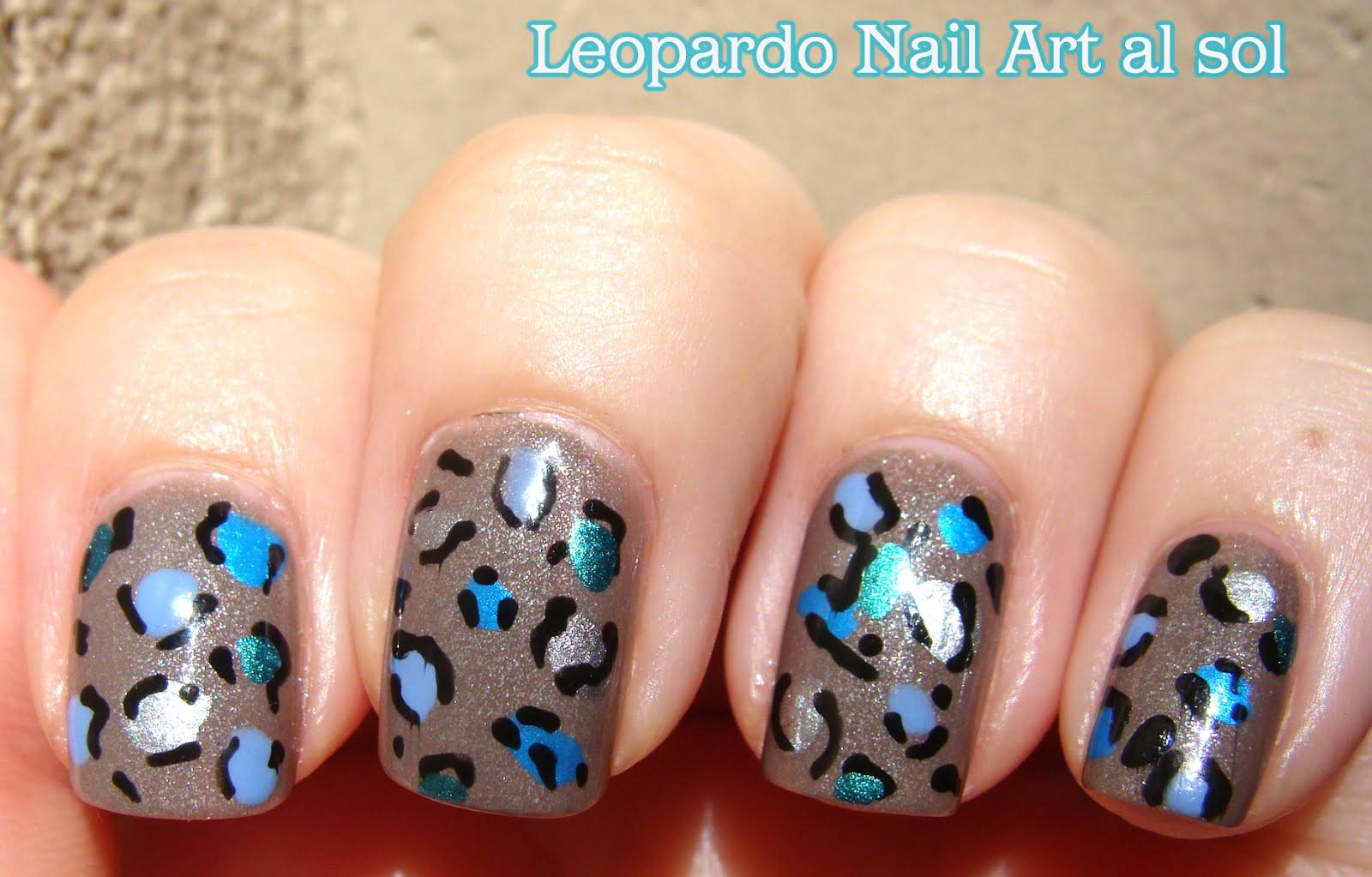 Esmaltes de Julie: Nail Art: Leopardo en colores